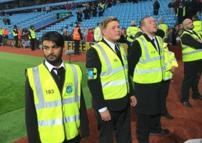 Sports event security stewards